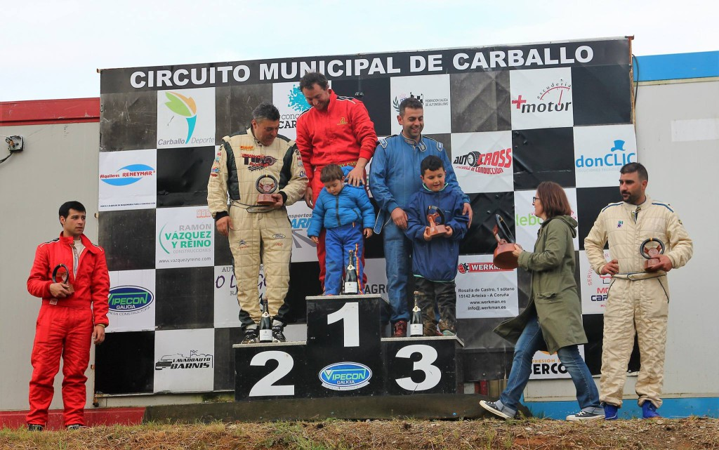 Podium menos 1600 V Autocross Carballo